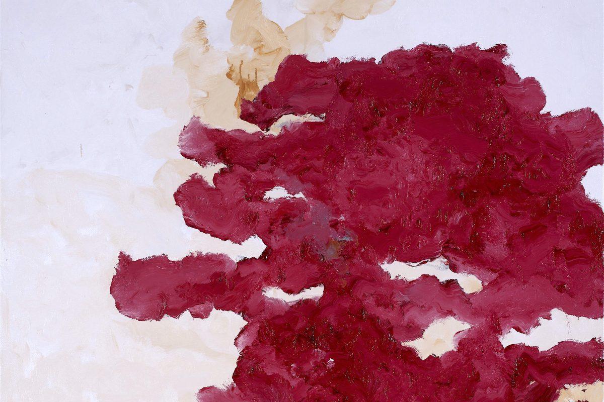 Armando, Rotes Bild, 2017, Öl auf Leinwand, 100 x 100 cm