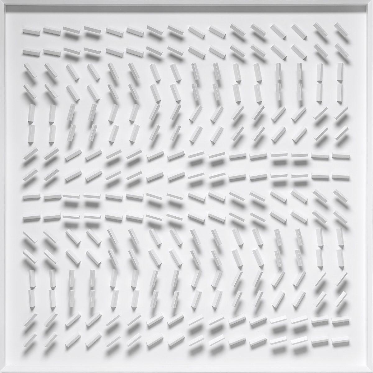 01 Klaus Staudt, Eco, 2019, 100 x 100 x 7,5cm; Foto: Norbert Miguletz