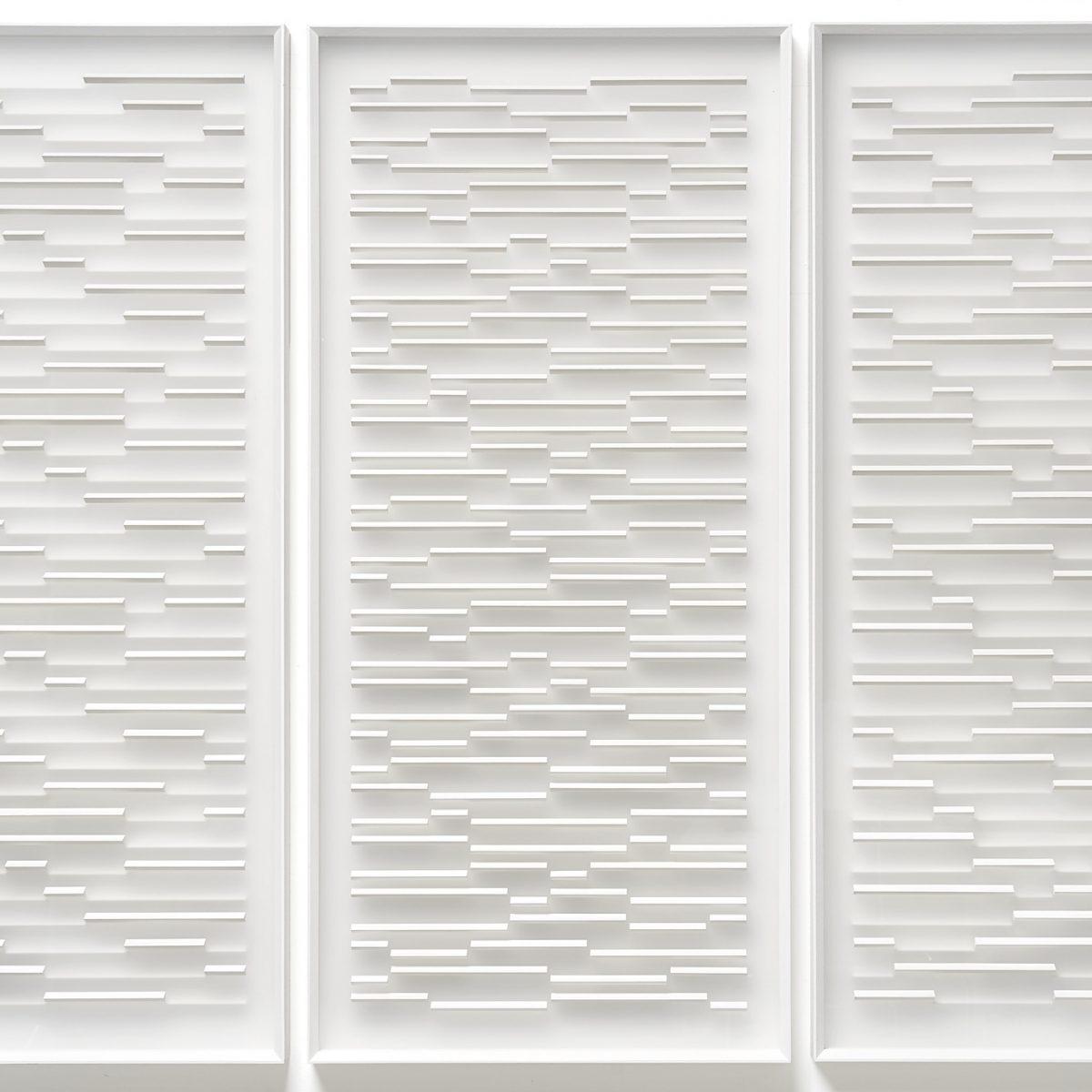 08 Klaus Staudt, Zukunft, (dreiteilig), 2017, 114 x 164 x 6,7cm, Holz, Acrylfarbe, Plexiglas; Foto: Norbert Miguletz