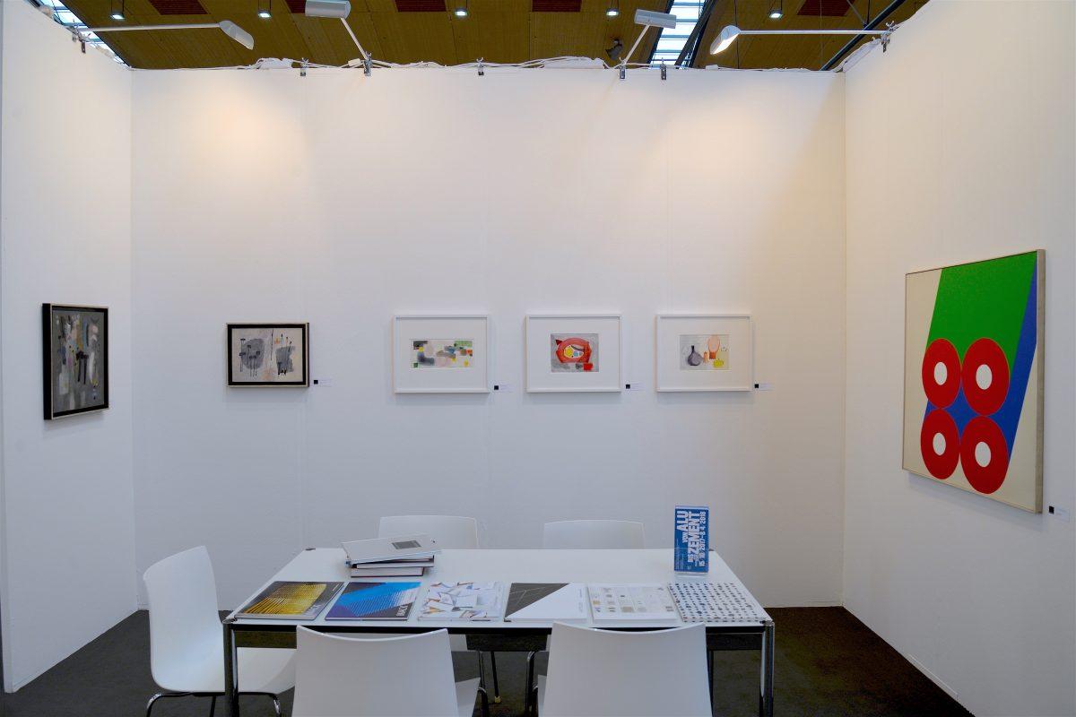 Messepräsentation der Galerie Geiger auf der art Karlsruhe 2018 (mit Werken von Richard Neuz und Günther C. Kirchberger)