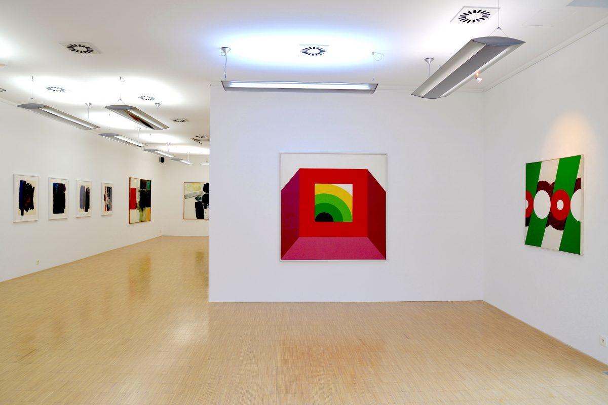 """Installation view """"Günther C. Kirchberger - Aufbruch in die Internationalität"""""""