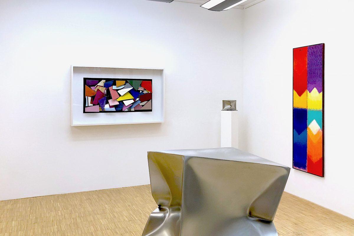 Installationsansicht mit Werken von Christian Megert, Ewerdt Hilgemann und Heinz Mack, Foto: Stephan Geiger