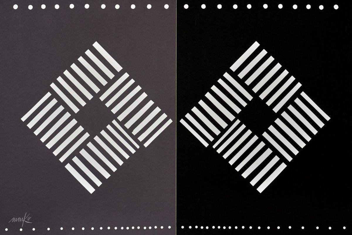 Heinz Mack, ohne Titel, 2018, 76 x 102,5 cm