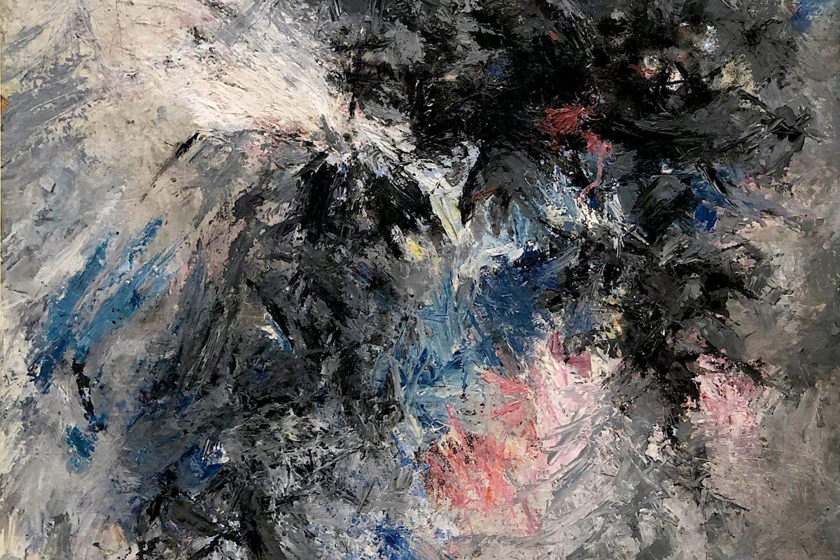 Günther C. Kirchberger, ohne Titel, 1957, Öl auf Hartfaserplatte (Ausschnitt), Foto: Galerie  Geiger