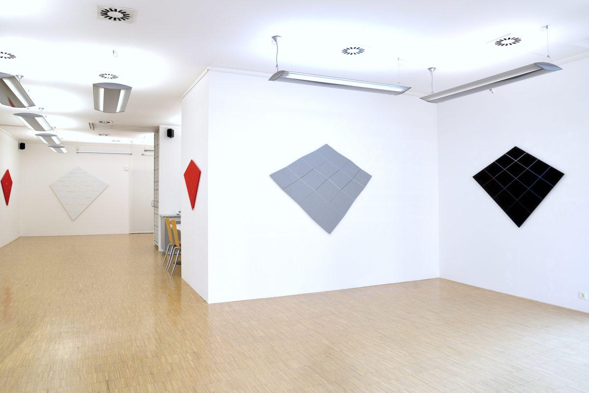 "Installationsansicht ""Hans Jörg Glattfelder - Small steps""; Foto: Stephan Geiger"