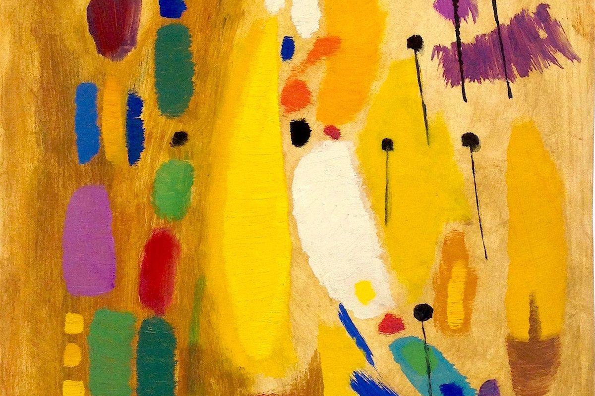 Richard Neuz (1894-1976), Ohne Titel, 1960er, Öl auf Karton, 33,3 x 24,9 cm (Detail)