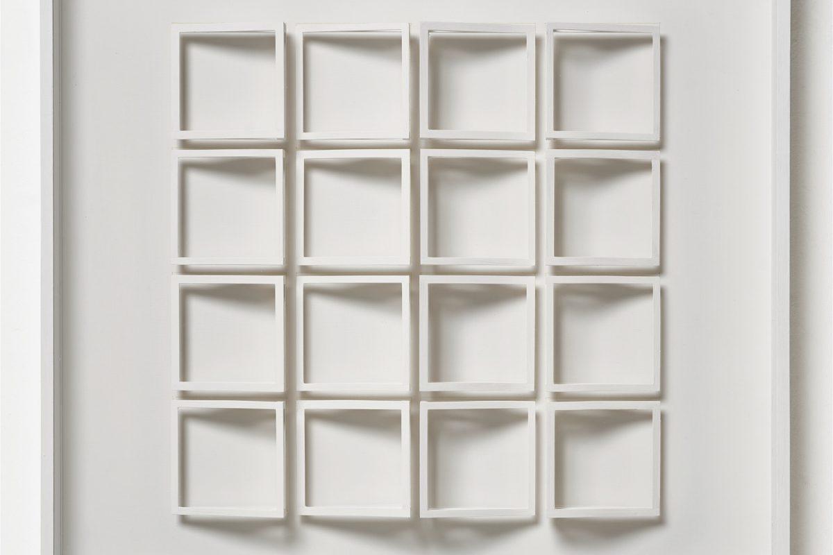 Klaus Staudt, beidseitig, 1989, 71 x 71 x 7,5 cm