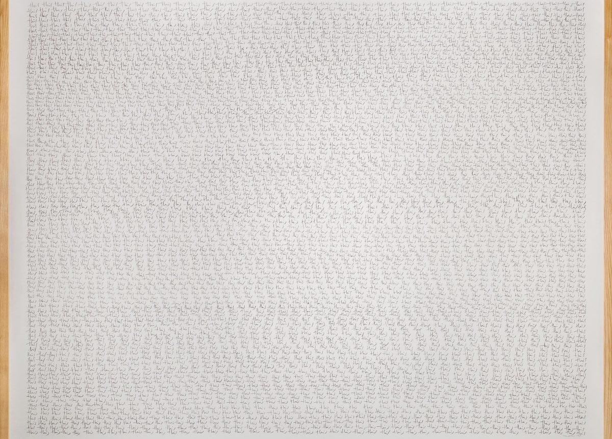 herman de vries, this, 1995, bleistift auf papier, 123,5 x 155,5 cm