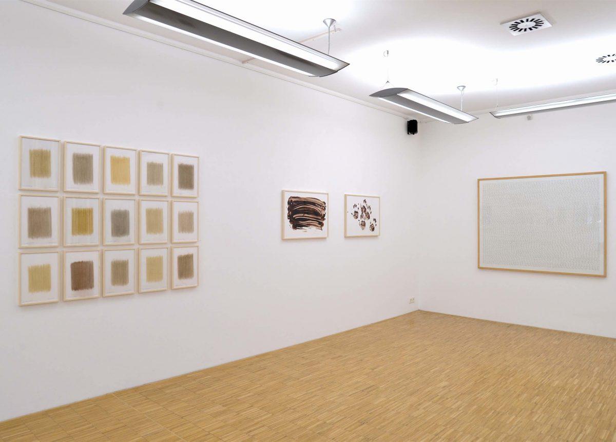 """Installationsansicht der Ausstellung """"herman de vries - erde, asche, blut"""""""